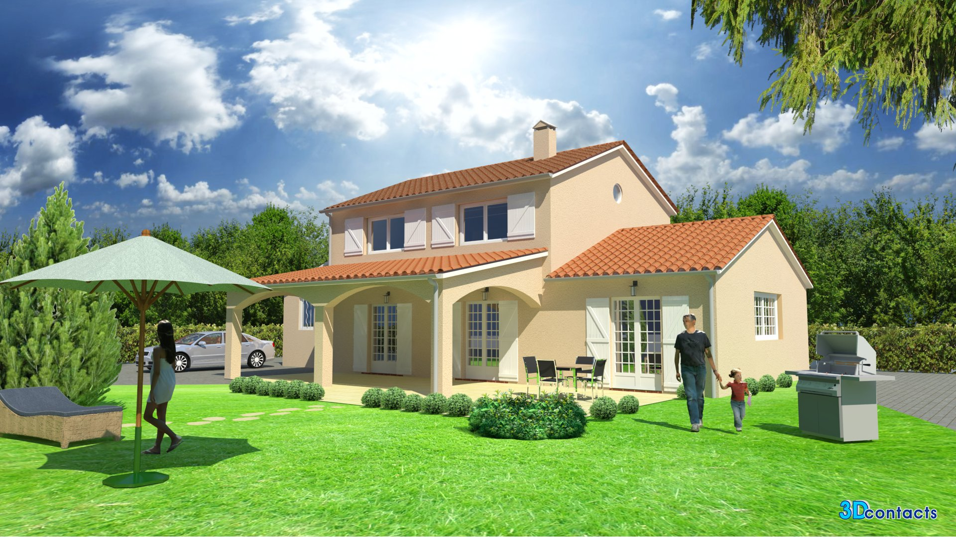 3d contacts quels services for Exterieur maison 3d