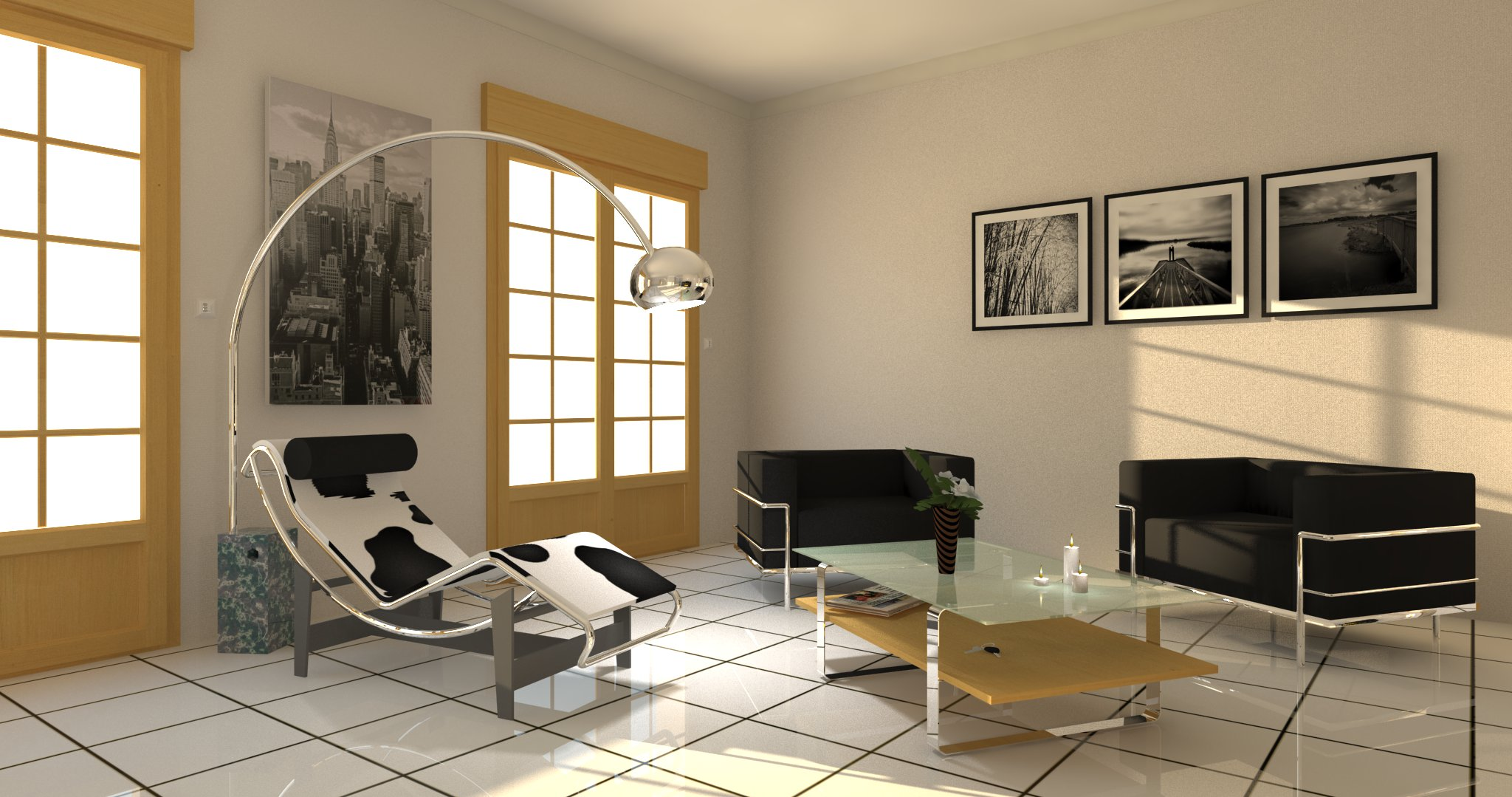 3d contacts salon d 39 inspiration le corbusier lampadaire arco. Black Bedroom Furniture Sets. Home Design Ideas
