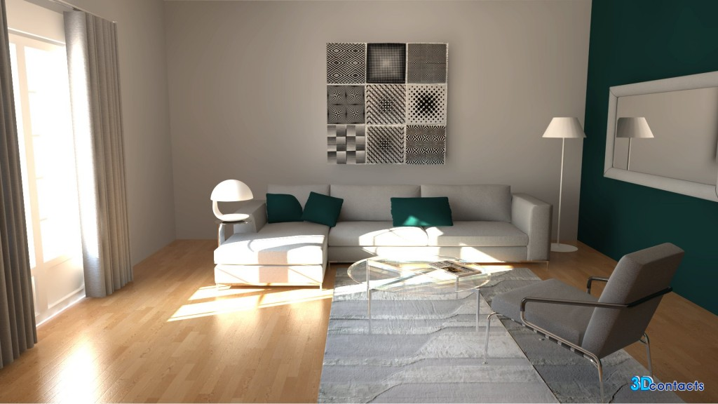 3D Contacts - Exemples D'Intérieur En Home-Staging