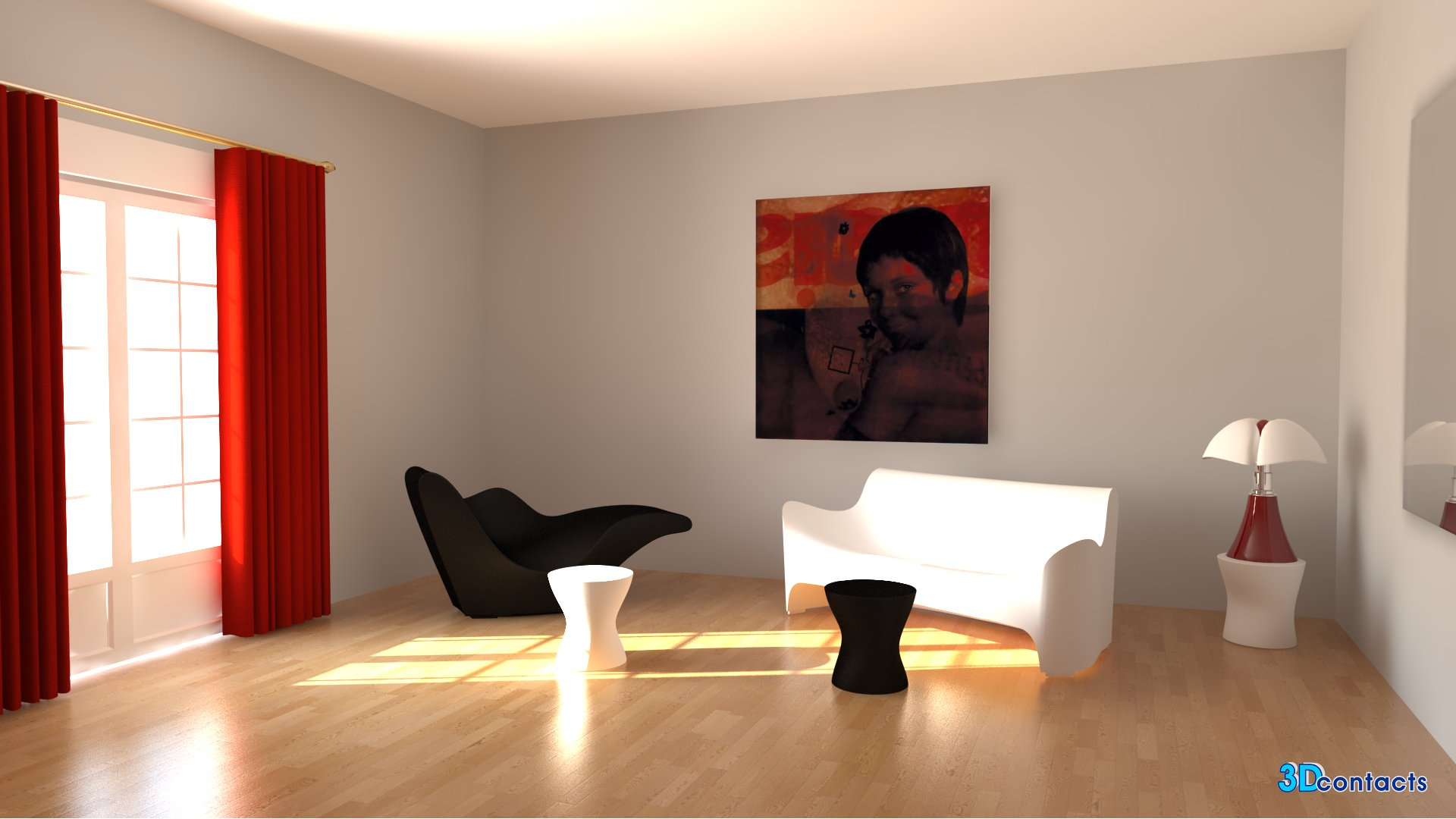 3d contacts salon design meubles de tokujin yoshioka lampe pipistrello. Black Bedroom Furniture Sets. Home Design Ideas